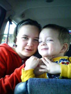 Sarah and Dylan in the car