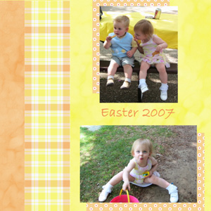 Abby Scrapbook Page