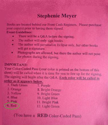 Stephenie Meyer ticket