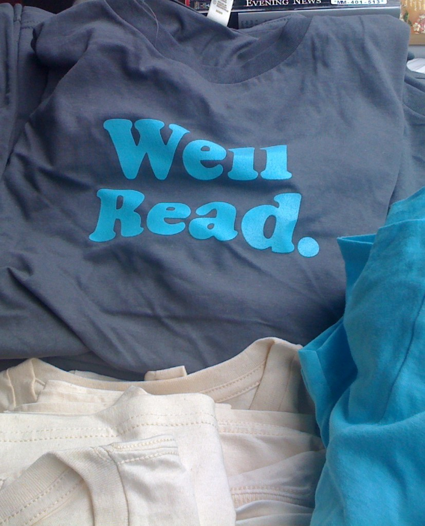 Well Read. tee-shirt on sale at the Decatur Book Festival, September 2009