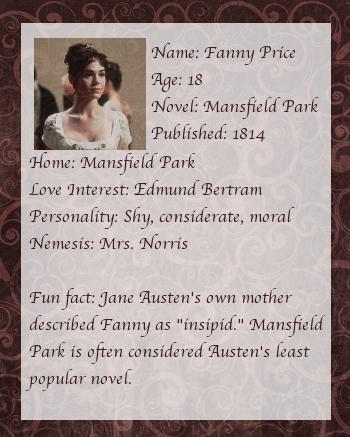 Fanny Price back
