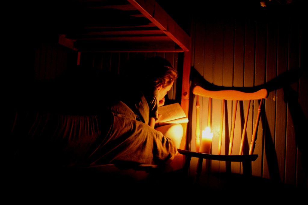 Reading with Candlelight