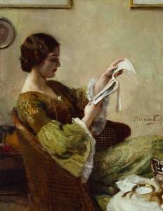 Young Woman Reading by Hermann Jean Joseph Richir