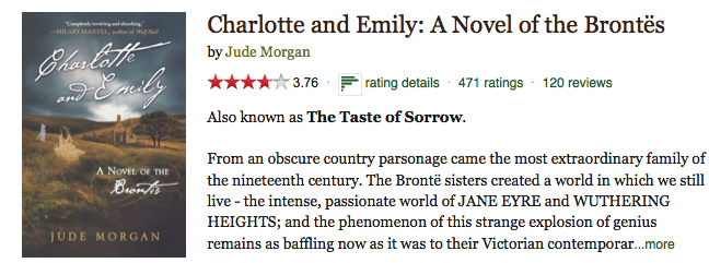 Charlotte and Emily by Jude Morgan