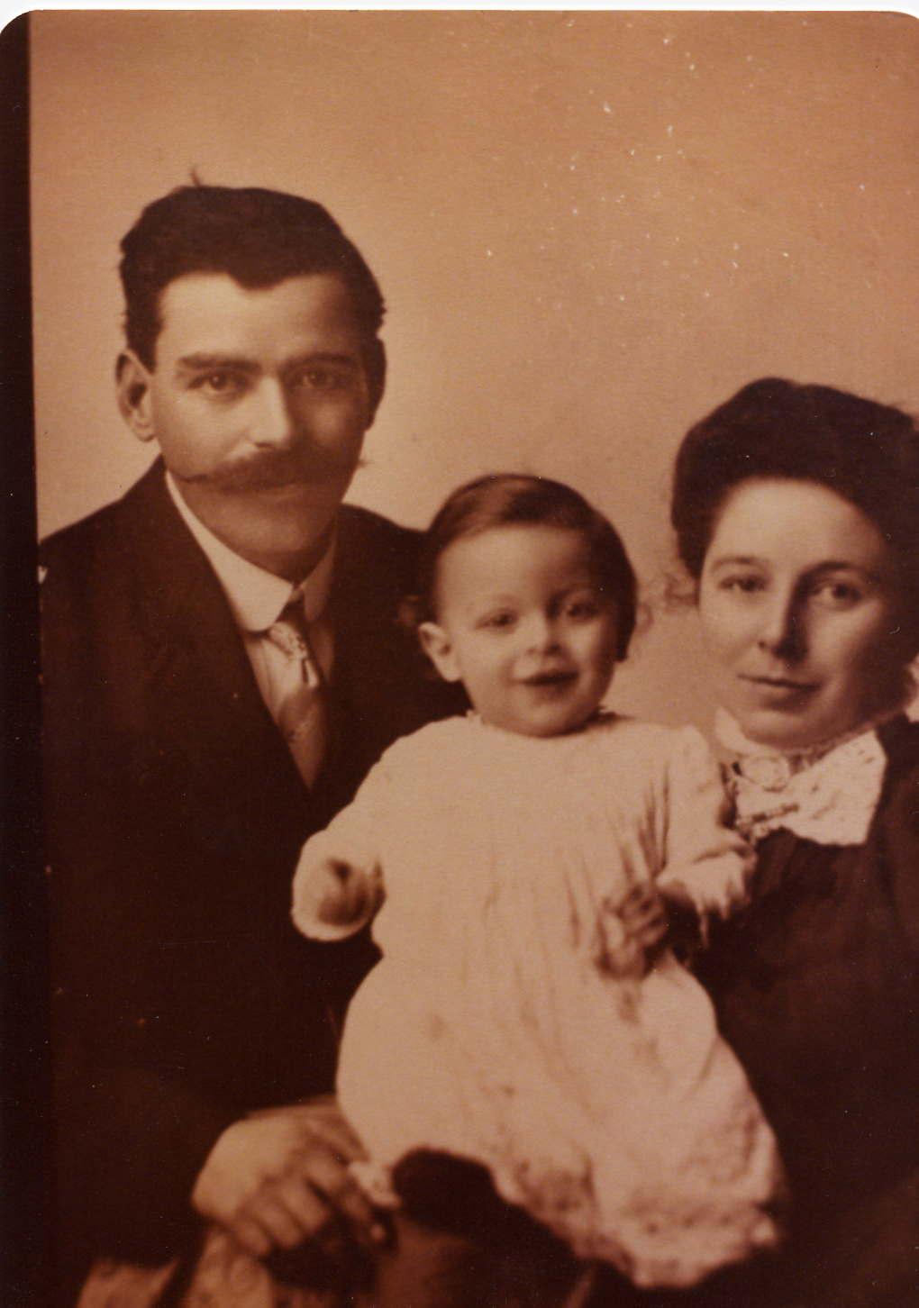 Omar Gearhart, Gertrude Perkins & John Douglas Gearhart