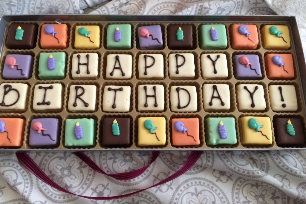 Birthday petit-fours from my husband