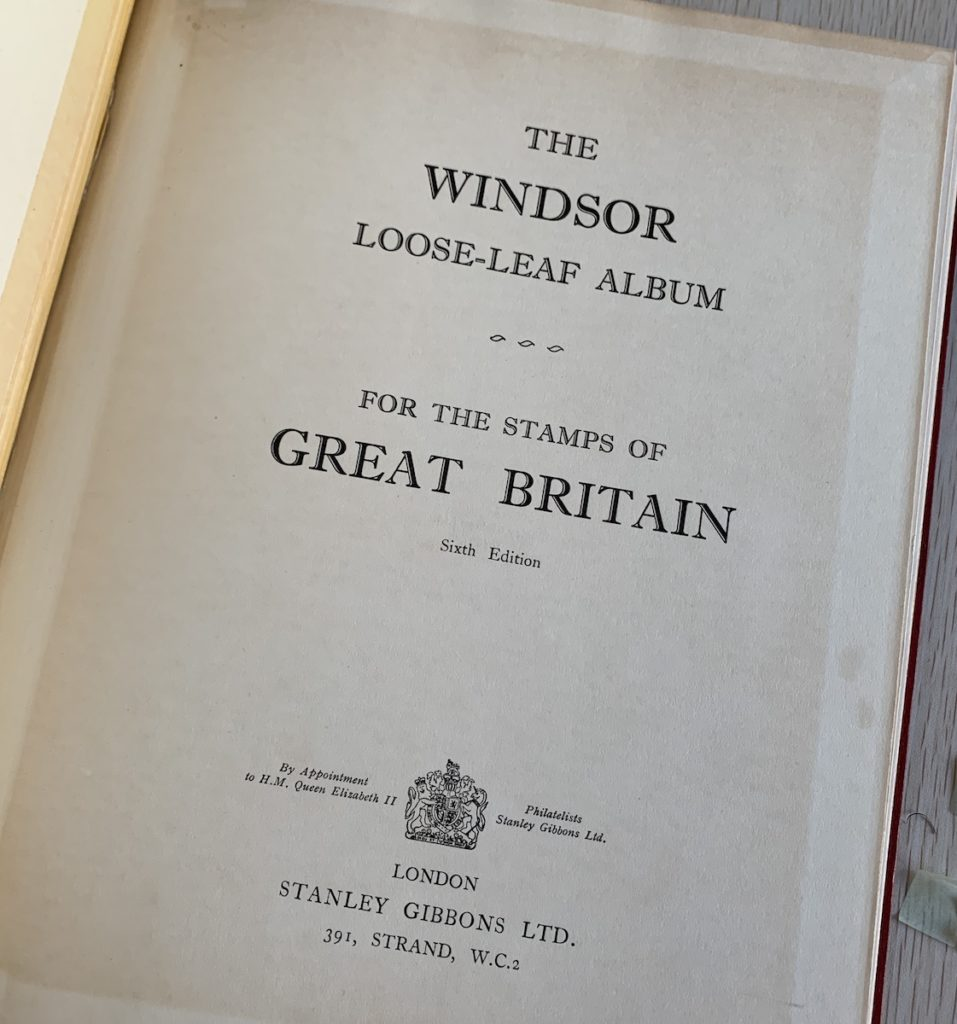 Stamp Album Title Page