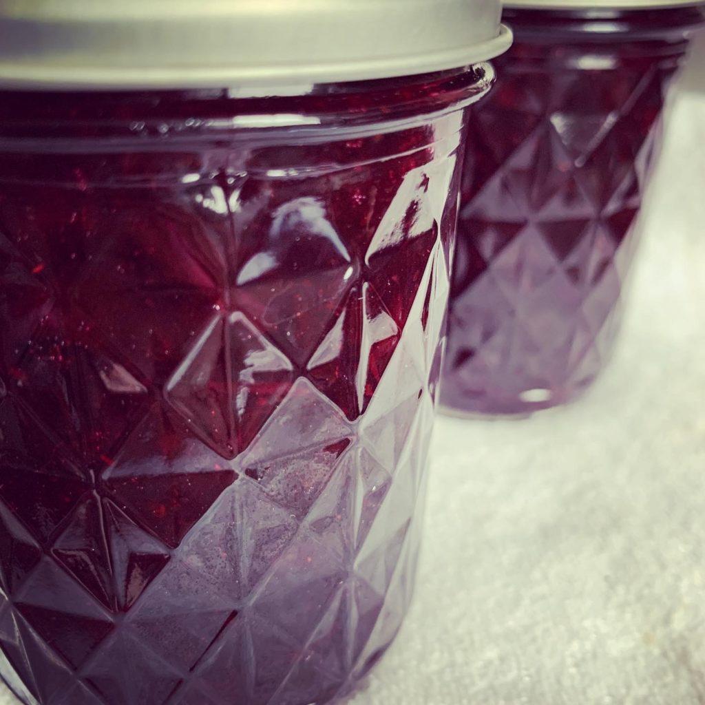 Jars of Blueberry Jam